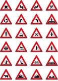 Warning signs. Vector illustration of the warning signs Stock Photos