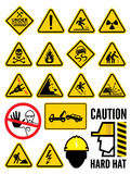 Warning signs Royalty Free Stock Images