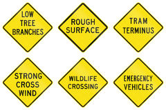 Warning Signs In Victoria - Australia Stock Images