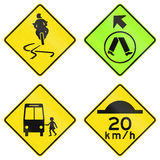 Warning Signs In Victoria - Australia Royalty Free Stock Photos