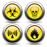 Warning signs. On a white background Stock Images