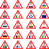 Warning sins for travelers. Vector illustration Stock Photography