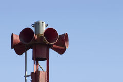 Warning Siren Stock Photo