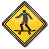 Warning skaters Royalty Free Stock Photos