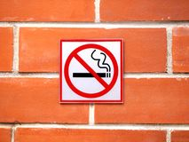 Warning that smoking is not permitted in the area Royalty Free Stock Photos