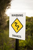 Warning snakes Royalty Free Stock Photos