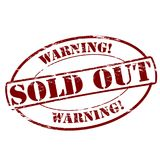 Warning sold out. Rubber stamps with text warning sold out inside,  illustration Royalty Free Stock Image