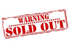 Warning sold out. Rubber stamps with text warning sold out inside,  illustration Stock Photo