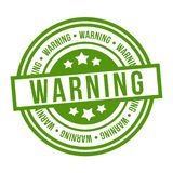 Warning Stamp. Eps10 Vector green Badge.  stock illustration