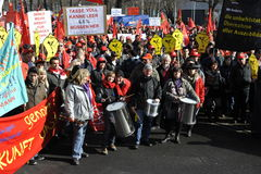 Warning Strike Stock Photos