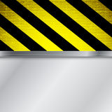 Warning stripe background Stock Images