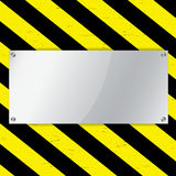 Warning stripe background Stock Photo