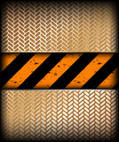 Warning stripe with gold texture. Vector Stock Image