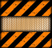 Warning strips with gold texture. Vector Royalty Free Stock Images