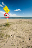 Warning: Strong Currents Royalty Free Stock Photo