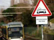 Warning subway priority signs Royalty Free Stock Images