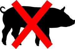 Warning swine flu. Vector. warning swine flu on a white background Stock Photography