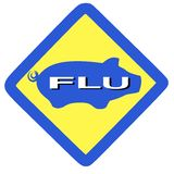 Warning swine flu sign Royalty Free Stock Image