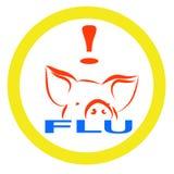 Warning swine flu sign Stock Photography