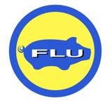 Warning swine flu sign Stock Photos