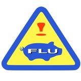 Warning swine flu sign Stock Image