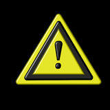 Warning symbol Stock Photos