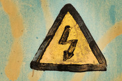 Warning symbol Stock Photography
