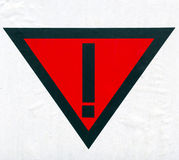 Warning symbol Stock Image