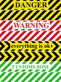 Warning tape. With the inscription Royalty Free Stock Images