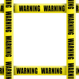 Warning tape frame Stock Photography