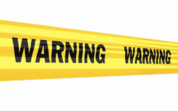 Warning tape strip Royalty Free Stock Photo