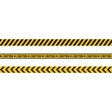 Warning tapes. Seamless hazard stripes texture Stock Photos