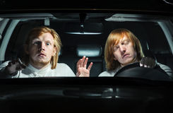 A warning to drowsy drivers Stock Photography