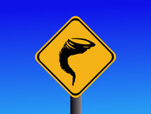 Warning tornado sign royalty free stock photography