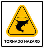Warning tornado sign Stock Photography