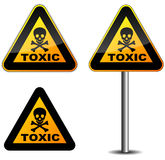 Warning toxic sign Royalty Free Stock Photos