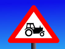 Warning tractor sign Stock Photos
