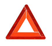 Warning traffic accident sing Stock Photography