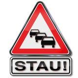 Warning traffic jam Royalty Free Stock Images