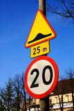 Warning traffic sign Stock Photo