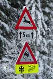 Warning traffic sign Royalty Free Stock Photos