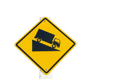 Warning traffic sign USE LOW GEAR Stock Images