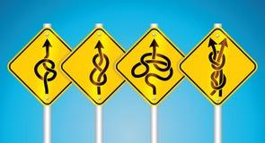 Warning traffic signs Stock Photos