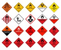 Free Warning Transport Hazard Pictograms,Hazardous Chemical Danger Symbol Sign Isolate On White Background,Vector Illustration Royalty Free Stock Photos - 172043548