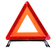 Warning triangle. Against a white background Royalty Free Stock Image
