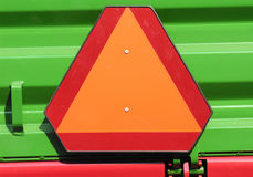 Warning triangle. Put on heavy trucks or broken cars Royalty Free Stock Images