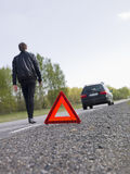 Warning triangle Stock Images