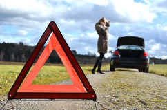 Warning triangle Stock Photos