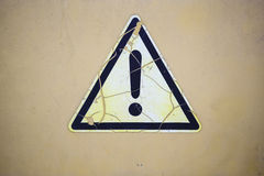 Warning triangle Stock Photo