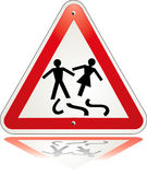 Warning triangle divorce Stock Images